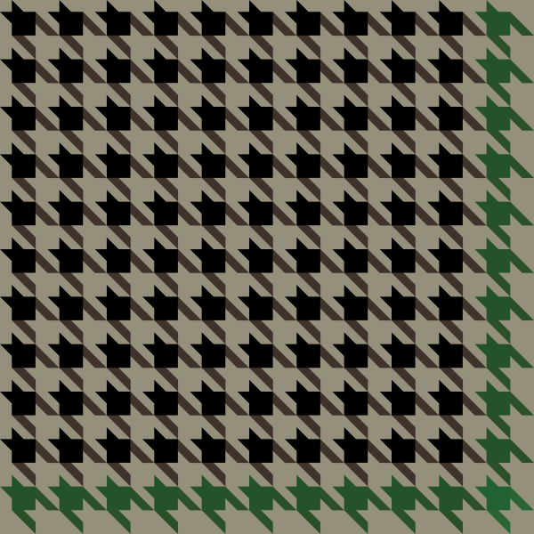 houndstooth_check_black_green