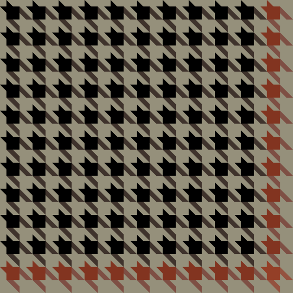 Black and orange Houndstooth check pattern vector data.