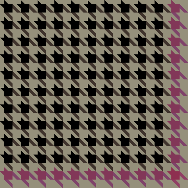 Black and pink Houndstooth check pattern vector data.