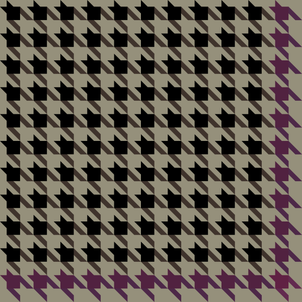 Black and purple Houndstooth check pattern vector data.