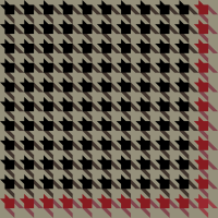 Black and red Houndstooth check pattern vector data.
