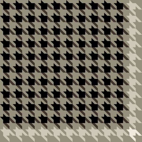 Black and white Houndstooth check pattern vector data.