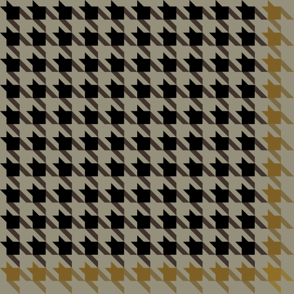 houndstooth_check_black_yellow