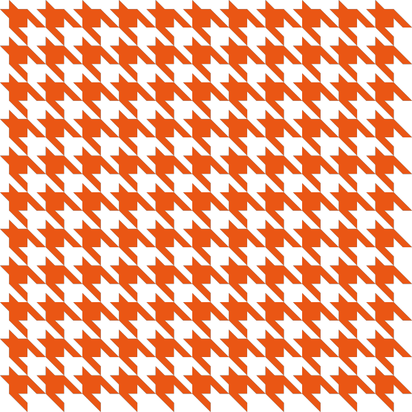Orange Houndstooth check vector data