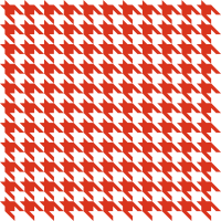 Red Houndstooth check vector data