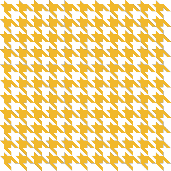 Yellow Houndstooth check vector data