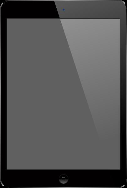 Black iPad Air vector ...