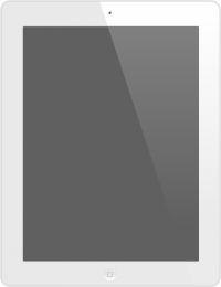 iPad White SVG Icon