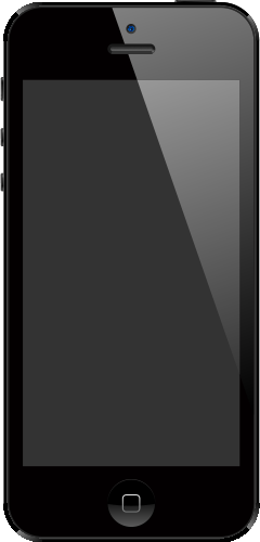 iPhone 5 Black SVG Icon