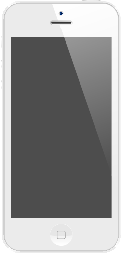 iPhone 5 White SVG Icon