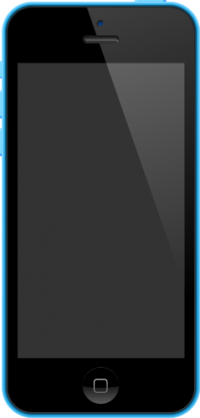 iPhone 5C Blue vector data for free