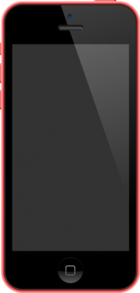 iPhone 5C Pink vector data for free