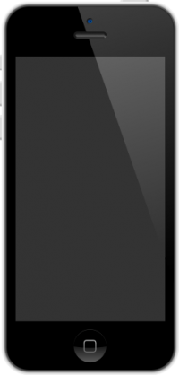 iPhone 5C White vector data for free