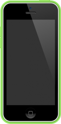 iPhone 5C White and Green case vector data for free