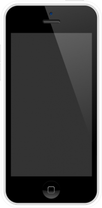 iPhone 5C White and White case vector data for free