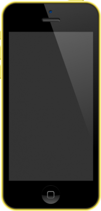 iPhone 5C Yellow vector data for free