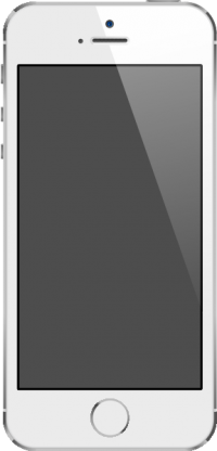 iPhone 5S Silver vector data for free.