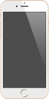 iPhone 6 gold vector data for free.