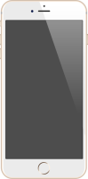 iPhone 6 Plus gold vector data for free.
