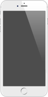 iPhone 6 Plus silver vector data for free.