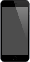 iPhone 6 Plus space gray vector data for free.