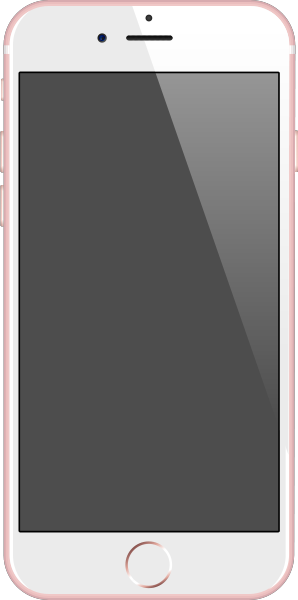 iPhone 6s rose gold vector data for free.