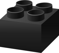 Black LEGO BRICK vector data for free.