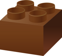 Brown LEGO BRICK vector data for free.