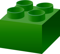Dark Green LEGO BRICK vector data for free.
