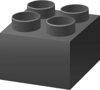 Gray LEGO BRICK vector data for free.