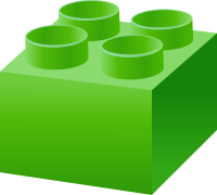 Green LEGO BRICK vector data for free.