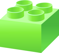 Light Green LEGO BRICK vector data for free.