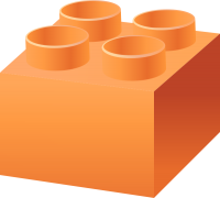 Light Orange LEGO BRICK vector data for free.