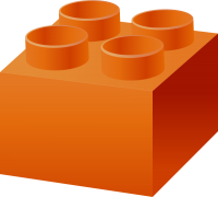 Orange LEGO BRICK vector data for free.