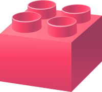 Pink LEGO BRICK vector data for free.