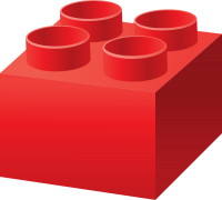 Red LEGO BRICK vector data for free.