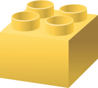 Yellow LEGO BRICK vector data for free.