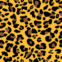Seamless yellow leopard texture pattern