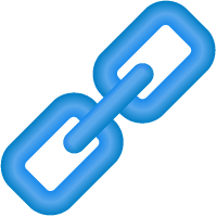 Link Icon 3D Blue vector data.