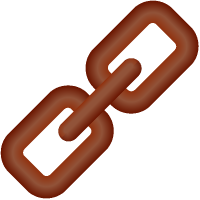 Link Icon 3D Brown vector data.