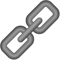 Link Icon 3D Gray vector data.
