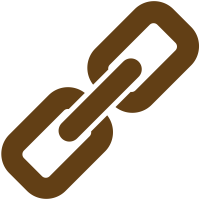 Brown link icon. Vector data.