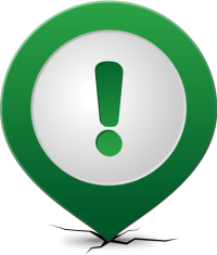 Location map pin ATTENTION GREEN
