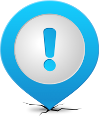 Location map pin ATTENTION LIGHT BLUE
