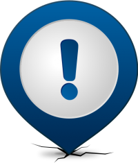 Location map pin ATTENTION NAVY BLUE