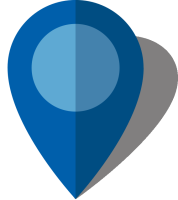 Simple location map pin icon10 blue free vector data