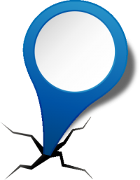 location map pin BLUE2