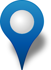 Location map pin BLUE3