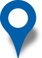 Simple location map pin icon blue free vector data