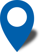 Simple location map pin icon2 blue free vector data
